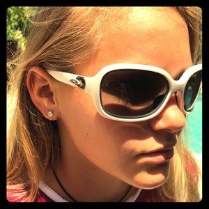 White Oakley Sunglasses -Barely worn